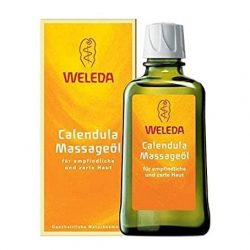 Packaging and Bottle of Weleda Calendula Oil (200ml)