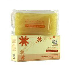 Bar and Box of Cherub Rubs - Organic Lavender & Mandarin Soap, 100g