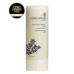 Bottle of Living Nature Organic Manuka Honey Gel, 50ml
