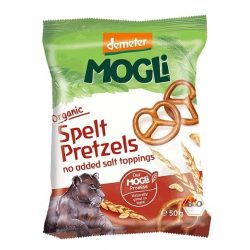 Packet of Mogli Organic Prezels (Demeter), 50g