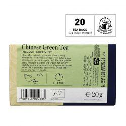Back view of Sonnentor Organic Chinese Green Tea Blend Package