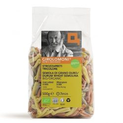 Packet of Girolomoni Strozzapreti Tricolore Pasta