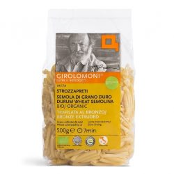 Packet of Girolomoni Strozzapreti pasta