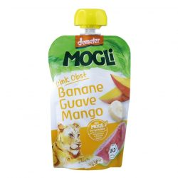 Packet of Mogli Organic Moothie - Banana, Guava & Mango Smoothie (Demeter), 100g