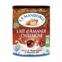 Tin of La Mandorle Organic Almond & Chestnut Milk Instant Powder, 400g