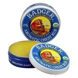 Container of Badger Organic Balm Aroma Chest Rub, 0.75oz