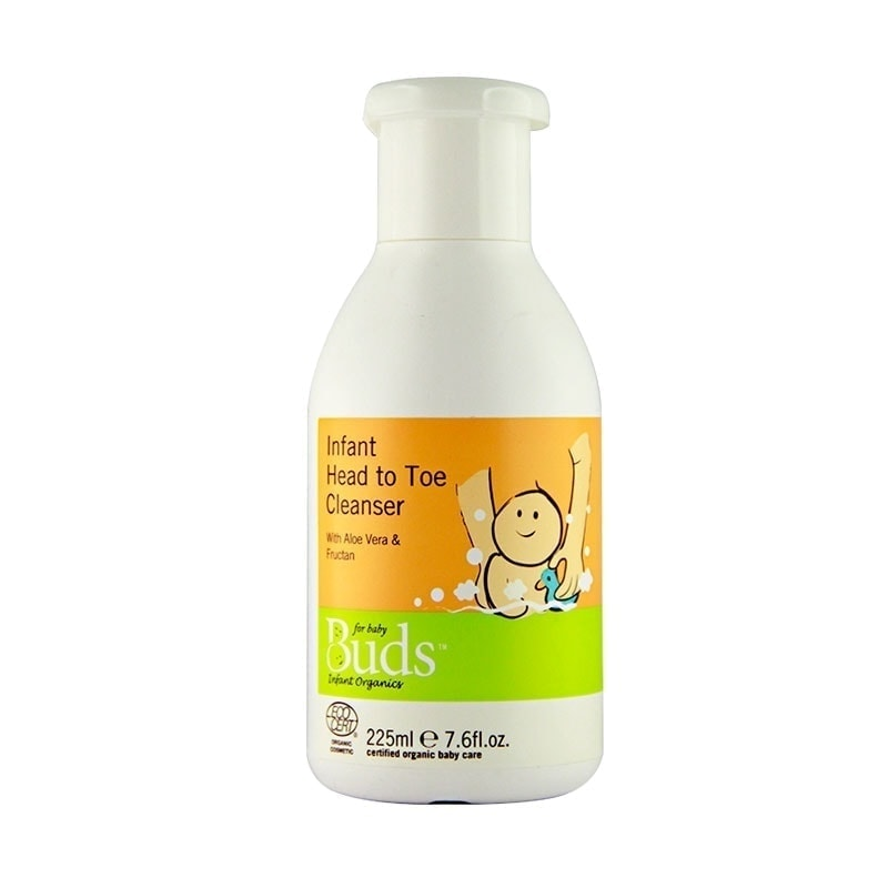 Bottle of Buds Everyday Organics - Infant Head To Toe Cleanser, 225ml