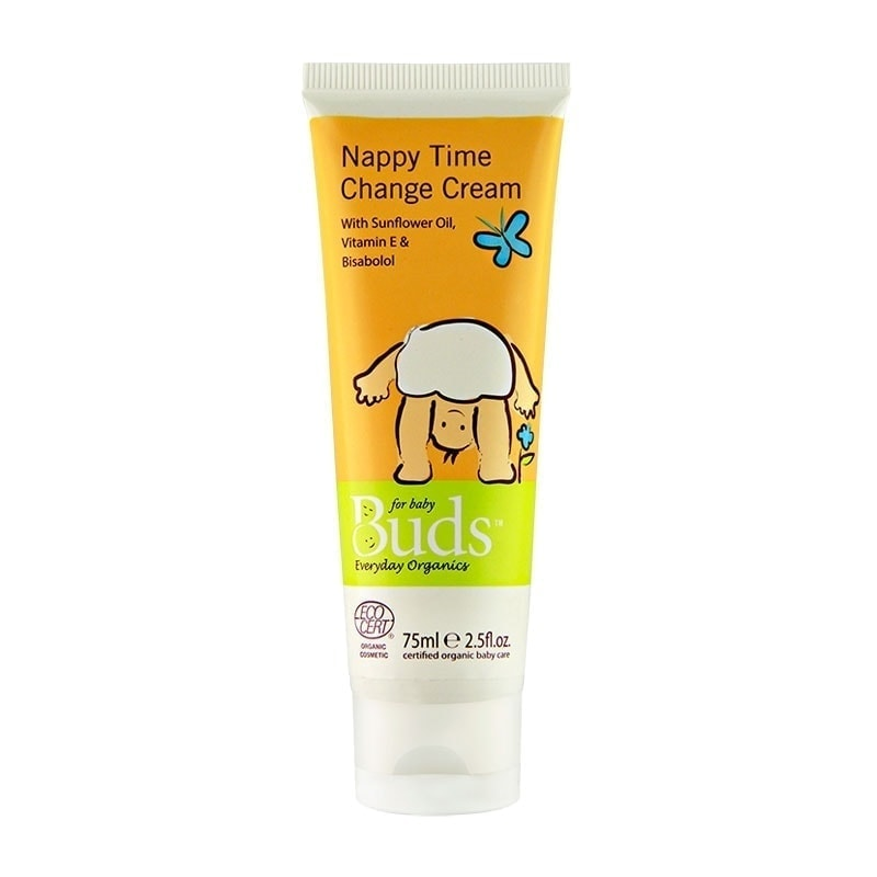 Tube of Buds Everyday Organics - Nappy Time Change Cream, 75ml