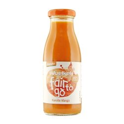 Bottle of Voelkel Fair To Go Juice Carrot Mango 250ml