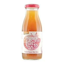 Bottle of Voelkel Fair To Go Juice Guava Aloe Vera 250ml