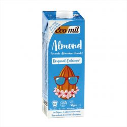 Carton of Ecomil Organic Almond Milk Agave Calcium, 1L