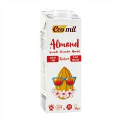Carton of Ecomil Organic Almond Milk Sugar-free, 1L