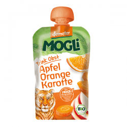 Packet of Mogli Organic Moothie - Apple, Orange & Carrot Smoothie (Demeter), 100g