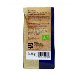 Back view of package of Sonnentor Frankie's Barbecue Spice Mix