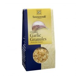Front view of package of Sonnentor Garlic Granules Herbal Blend