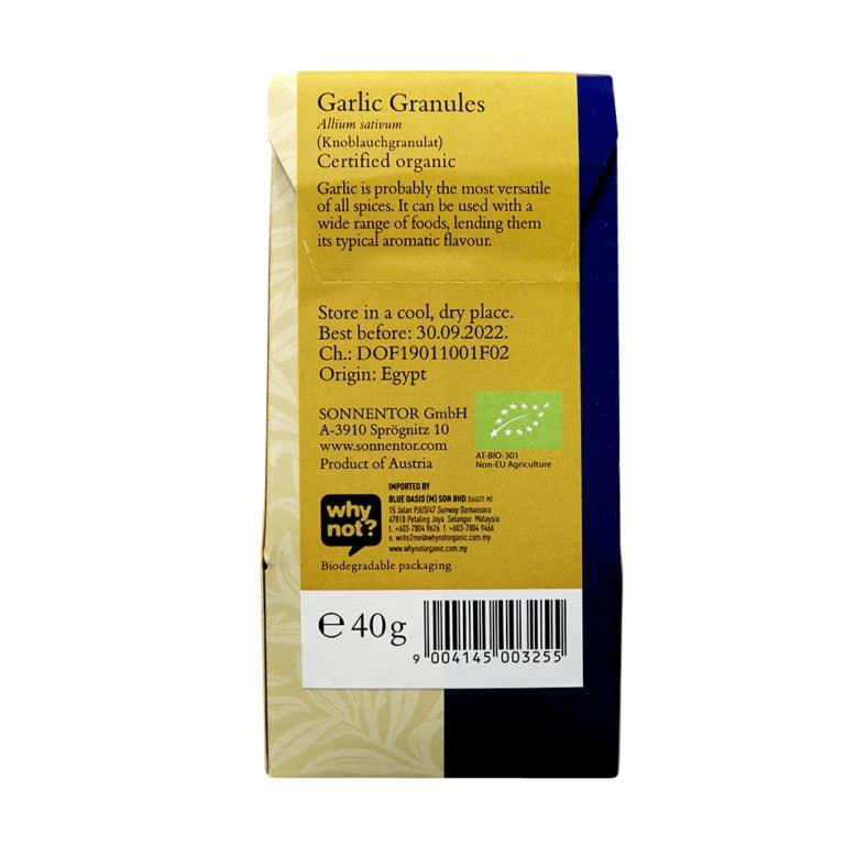 Sonnentor Organic Garlic Granules, 40g