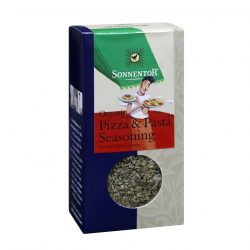 Front view of package of Sonnentor Pizza & Pasta Herbal Seasoning