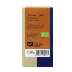 Back view of package of Sonnentor Organic Cinnamon Quills Spice