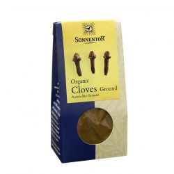 Front view of package of Sonnentor Organic Cloves Ground Powder