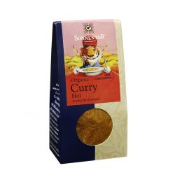 Front view of package of Sonnentor Organic Curry Hot spice blend