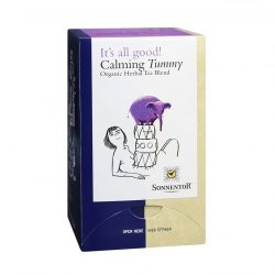 Front view of Sonnentor Calming Your Tummy Tea flavour package