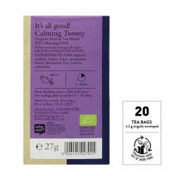 Back view of Sonnentor Calming Your Tummy Tea flavour package