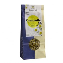 Front view of a packet of Sonnentor Organic Camomile Tea (50g)