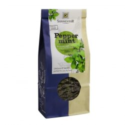 Front view of a packet of Sonnentor Organic Peppermint Tea (50g)