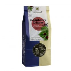 Front view of a packet of Sonnentor Raspberry Leaves Tea, 50g