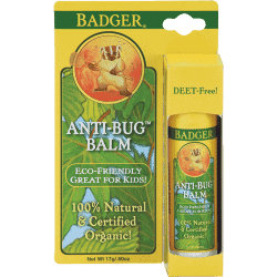 Bottle and packaging Badger Organic Balm Anti-Bug Travel Stick Citronella, 0.6oz