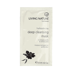 Packet of Living Nature Organic Deep Cleansing Mask, 10 x 5ml