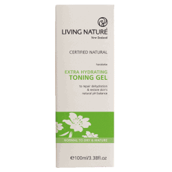 Box of Living Nature Organic Extra Hydrating Toning Gel, 100ml