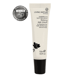 Bottle of Living Nature Organic Firming Eye Cream, 10ml