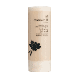 Bottle of Living Nature Organic Hydrating Gel Mask, 50ml
