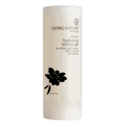 Bottle of Living Nature Organic Hydrating Toning Gel, 100ml