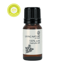 Bottle of Living Nature Organic Manuka Oil, 10ml