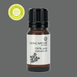 Bottle of Living Nature Organic Manuka Oil, 10ml