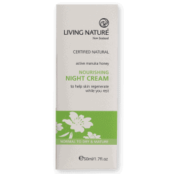Box of Living Nature Organic Nourishing Night Cream, 50ml