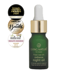 Vial of Living Nature Organic Radiance Night Oil, 10ml