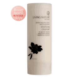Bottle of Living Nature Organic Vitalising Cleanser, 100ml
