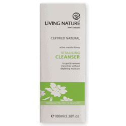 Box of Living Nature Organic Vitalising Cleanser, 100ml