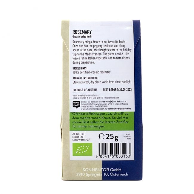 Sonnentor Organic Rosemary, 25g