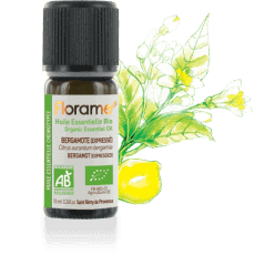 Bottle of Florame Organic Bergamot EO, 10ml