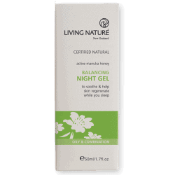 Box of Living Nature Balancing Night Gel (50ml)