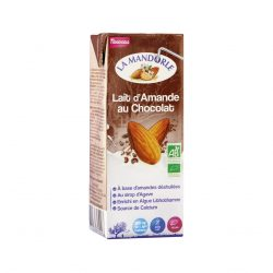 Carton of La Mandorle Organic Almond Milk With Chocolate, 200ml
