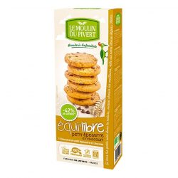Box of Le Moulin Organic Biscuits with Small Spelt Flour and Chocolate Chips (150g)