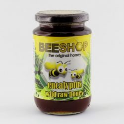 Jar of Beeshop Eucalyptus Wild Raw Honey