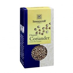 Front view of a box of Sonnentor Organic Coriander Whole, 35g