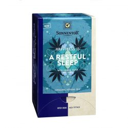 Front view of a box of Sonnentor Happiness is… A Restful Sleep Tea Blend