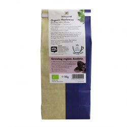 Back view of a packet of Sonnentor Organic Applemint Tea (50g)
